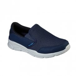 Skechers Mens Equalizer 4.0 Persisting Navy Mesh Fabric Slip On Sneakers
