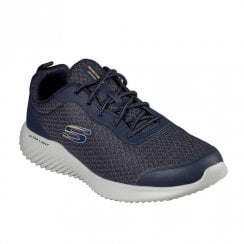 Skechers Mens Bounder Voltis Navy Textured Mesh Sneakers