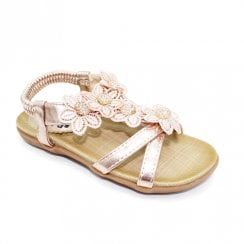 Lunar Fiji Junior Kids Sling Back Strap Sandals JCH002 - Rose Gold