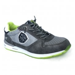 Mustang Mens Grey/Lime Sneakers - 4154-301-2
