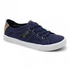 Blowfish Womens Fruit Canvas Sneakers - Navy