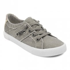 Blowfish Womens Fruit Canvas Sneakers - Grey