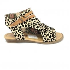Blowfish Kids Girls Bluemoon Open Toe Ankle Sandals - Sand Leopard