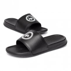 Hype Unisex Black Crest Bathing Flip Flop Sliders