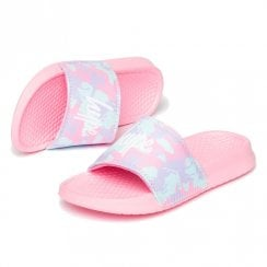 Hype Girls camo Script Pink Kids Sliders