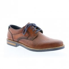 Rieker Mens Brown Leather Smart Lace Up Shoes
