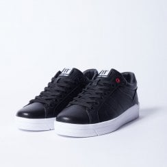 11 Degrees Black Leather Sneakers - Venice