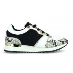 Menbur Snake Print Wedge Sneakers