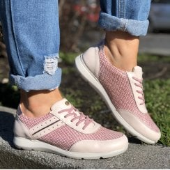 Pitillos Womens Pink Slip On Sneakers - 6122
