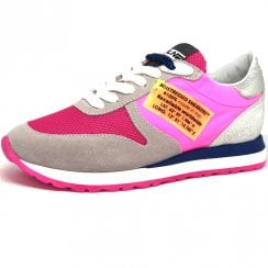 Méliné Womens Pink/Grey/Blue Sneakers - SA6001