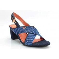 Escape Manzanita Block Heel Sandal - Navy