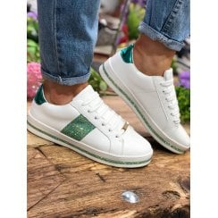 Menbur White/Green Crystal Trainer