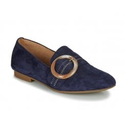 Gabor Womens Navy Loafer Pumps Shoes