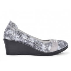 Inea Casual Ladies Isis Grey Wedge Heeled Pumps