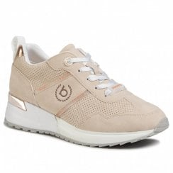 Bugatti Beige Wedged Lace Up Trainer