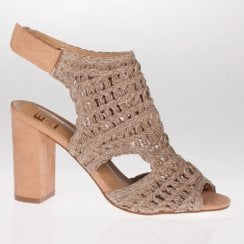 Escape Rhinebeck Rosy Brown Block Heeled Sandal