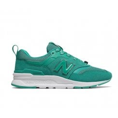 New Balance Womens 997H Mystic Crystal Lace Up Sneakers - Green