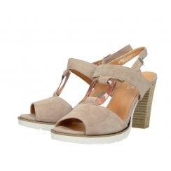 Regarde le Ciel Sylvie 64 High Heeled Sandals - Rose Suede