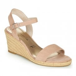 Tamaris Wedge High Heeled Sandals - Rose