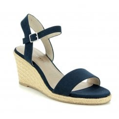 Tamaris Navy Wedge High Heeled Sandals