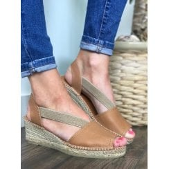 Toni Pons Teide Slingback Wedge Heeled Espadrille Sandals - Tan