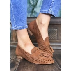 Regarde le Ciel Glady 17 Russet Tan Suede Loafer
