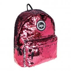 Hype Pink Reversible Sequin Backpack