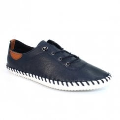 Lunar St Ives Soft Leather Pump - Navy