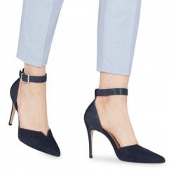 Tamaris Elegant Ankle Strap Court Shoes - Dark Navy