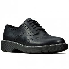 Clarks Witcombe Echo Black Leather