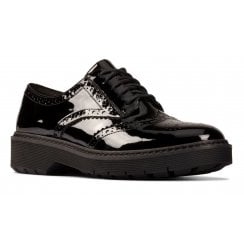 Clarks Witcombe Echo Brogue - Black Patent