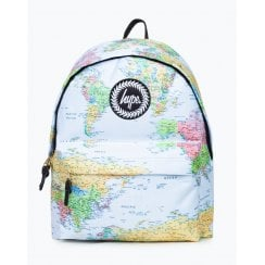 Hype Blue Maps Backpack 18 litres