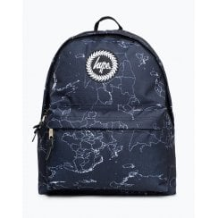 Hype BLack Maps Backpack 18 litres Backpack