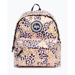 Hype Glitter Leopard Backpack  18 litres