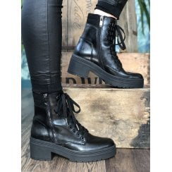 Marco Tozzi Chunky Cleated Sole Lace Up Boot