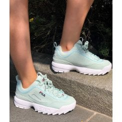 Fila Disruptor 2 Trainers In Aqua Cord