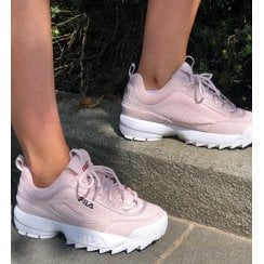 Fila Disruptor 2 Trainers In Pink Cord