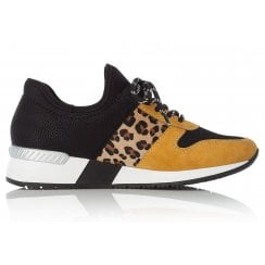 Rieker Black/Yellow Combination Trainers