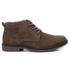 XTI Mens Lace Up Ankle Boot - Taupe