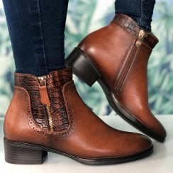 Susst Paloma Tan Ankle Boots