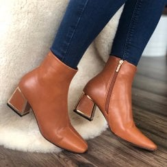 Una Healy Flaming Star Tan Ankle Boot