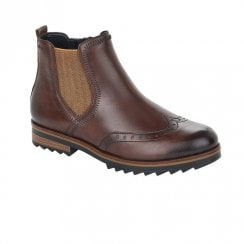 Remonte Ladies Brown Flat Ankle Boots