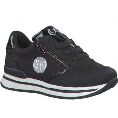 S.Oliver Girls Black Lace Up Trainers