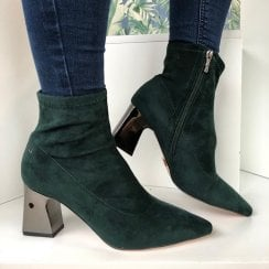 Una Healy This Is Living Emerald Ankle Boots