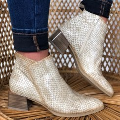 Hispanitas Alpes Biege Snake Ankle Boot