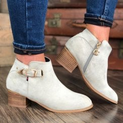 Escape Ladies Nephi Stone Suede Heeled Ankle Boot