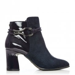 Moda In Pelle Lorile Navy Suede Ankle Boots