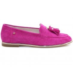 Amy Huberman Sing In Rain Magenta Pink Loafers