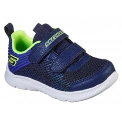 Skechers Boys Comfy Flex 2.0 Navy Velcro MACHINE WASHABLE Trainers