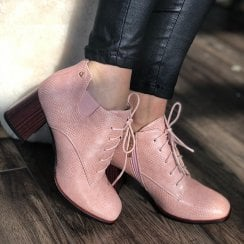 Una Healy Forever Free Pink Ankle Boots